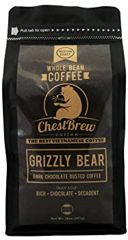 Chestbrew Whole Bean Grizzly Bear Vietnamese Coffee Brand