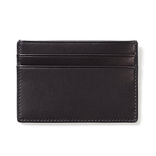 ebb728c91b8e Slim Leather Wallet Credit Card Case Sleeve Card Holder - Black   brown