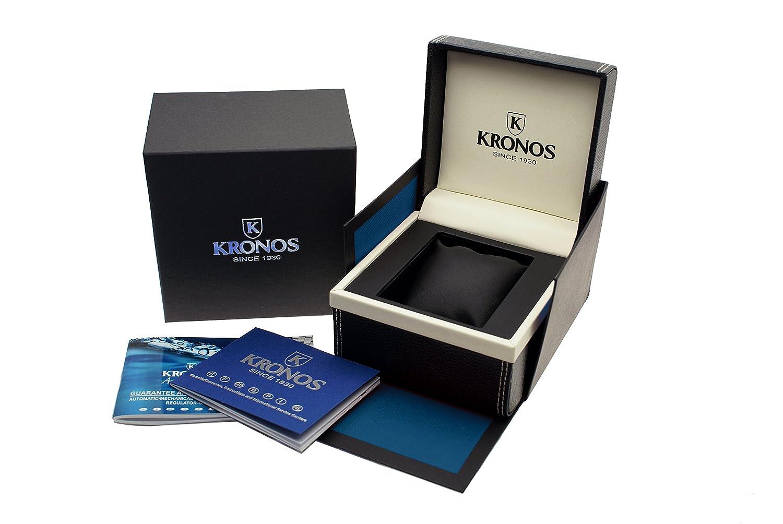 KRONOS - Pilot Automatic Chronograph Black 991.8.55 - Reloj de Caballero automático, Brazalete de Acero, Color Esfera: Negra: Amazon.es: Relojes