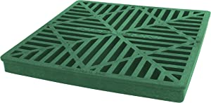 """NDS 1212 12"""" by 12"""" Square Grate, Green"""