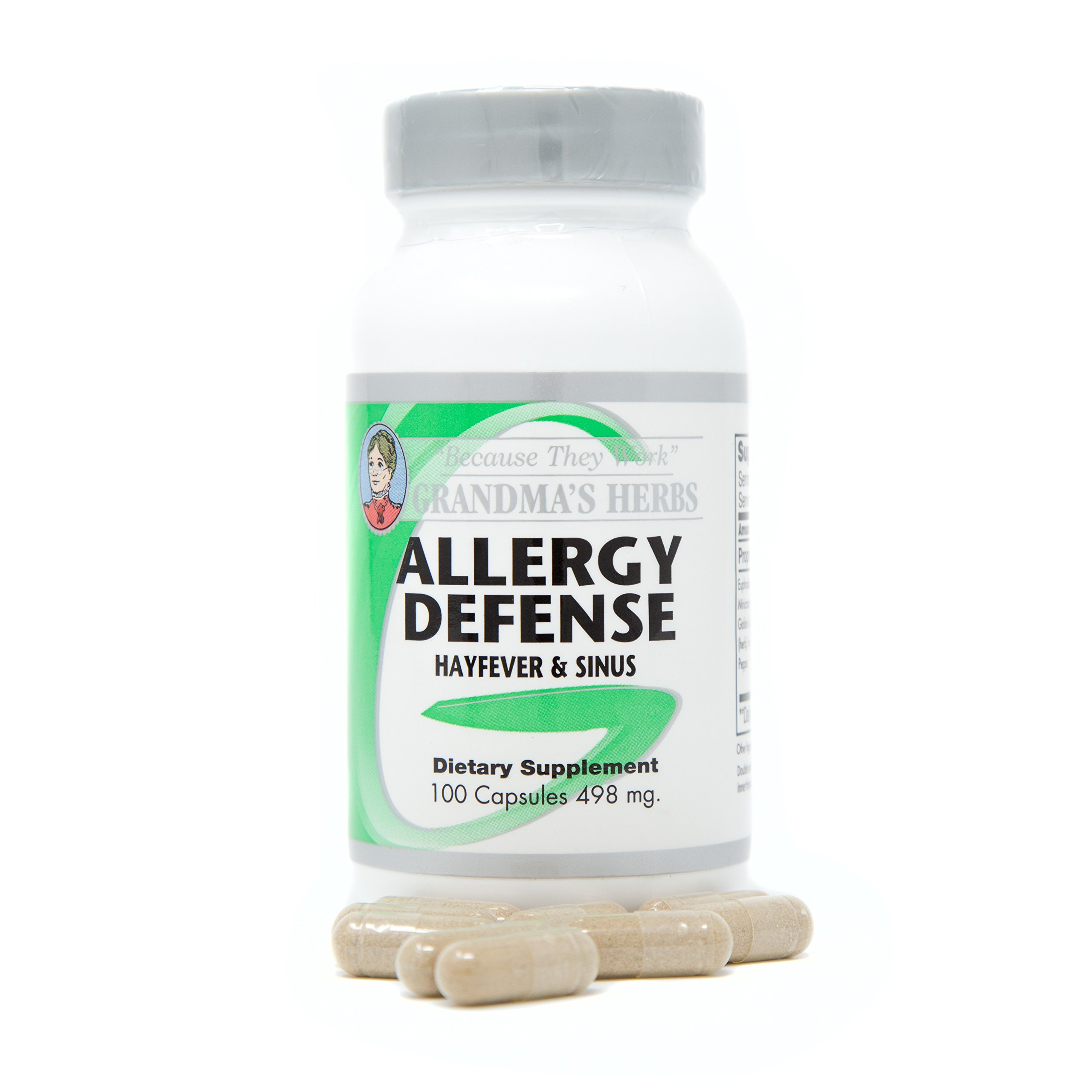 Allergy Defense - All Natural Herbal Remedy for Allergies - 100 Capsules
