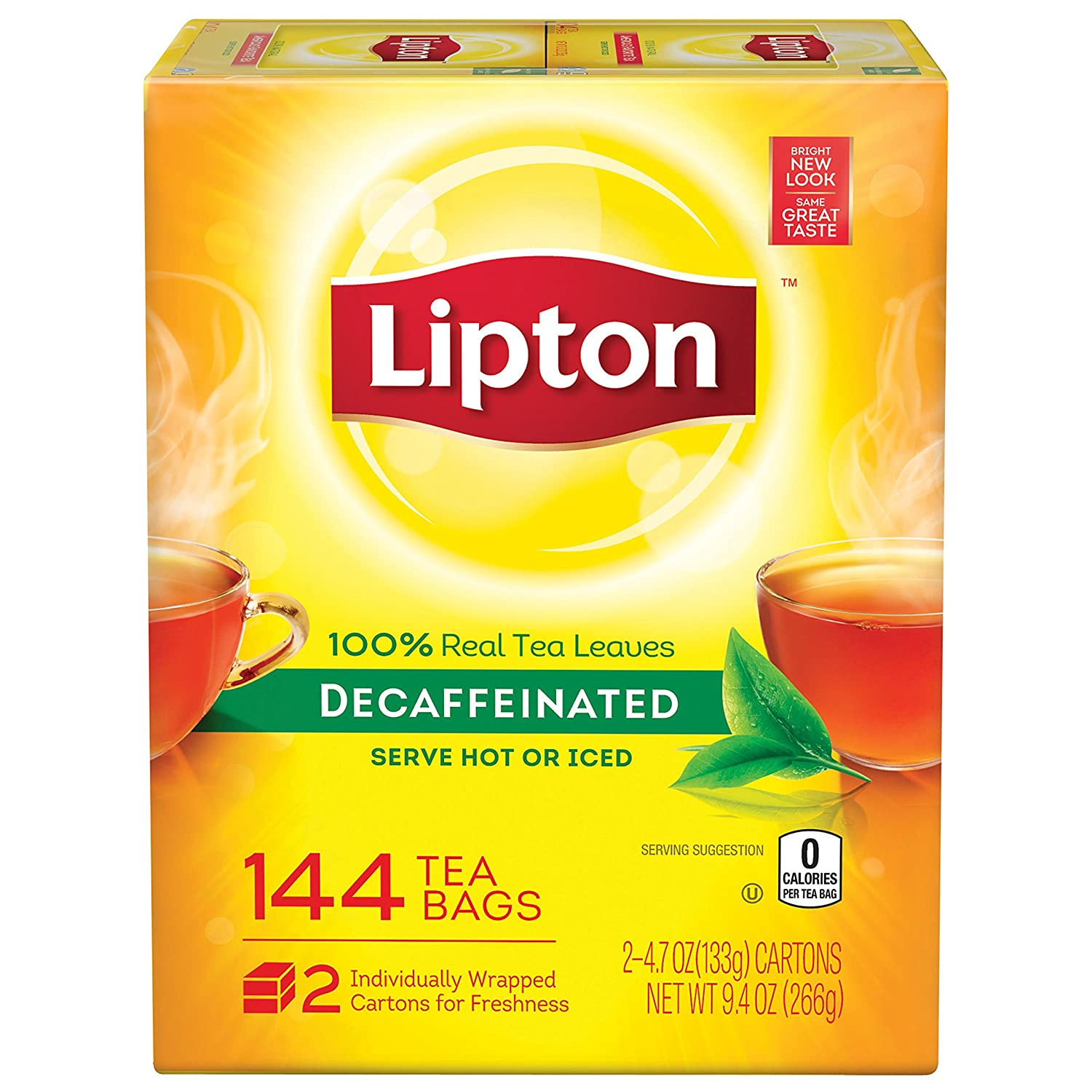 Lipton Black Tea Bags, Decaffeinated, 75 Count , 2 Pack 10041000002721