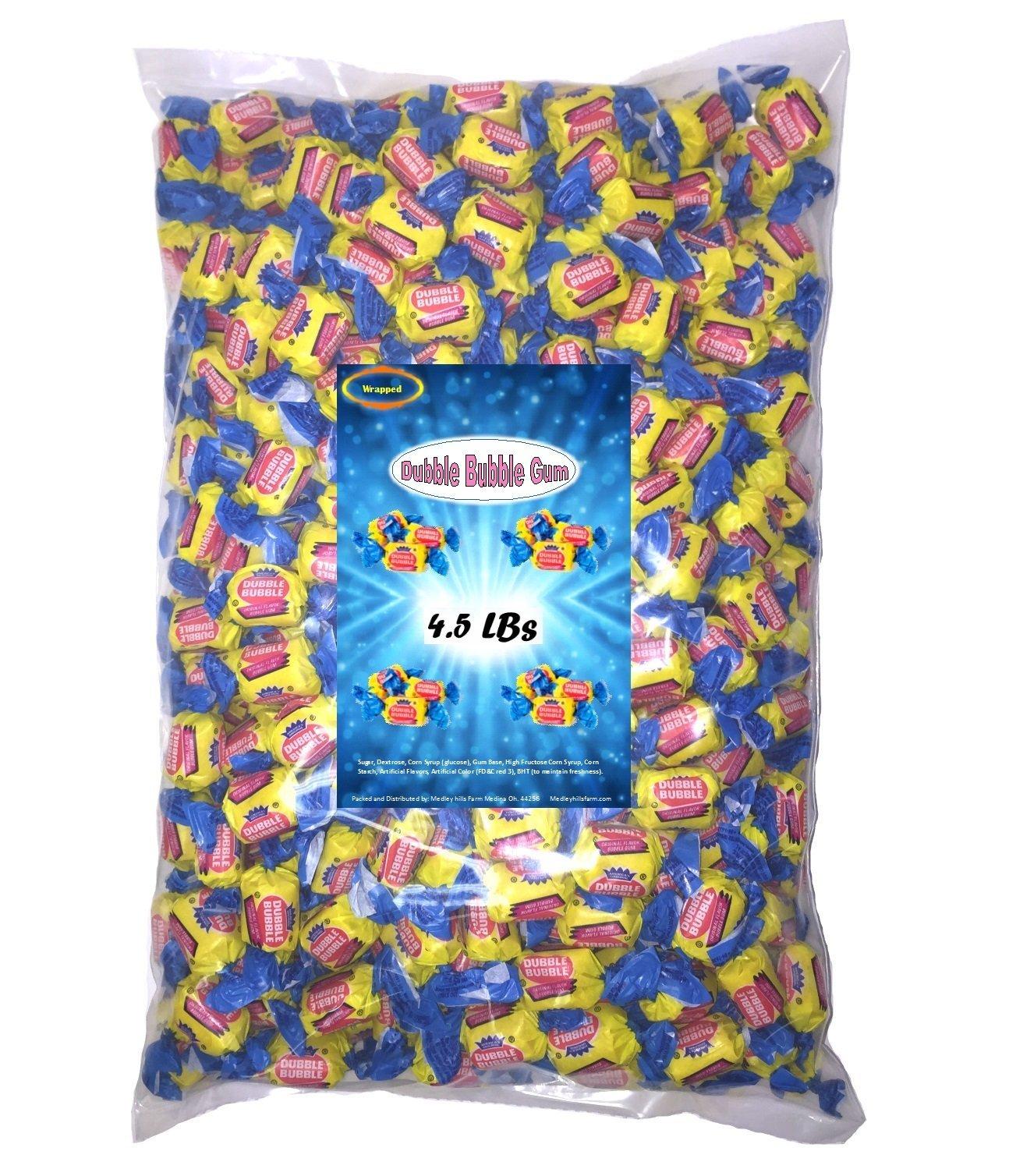 Dubble Bubble Gum 4.5 Lbs Original Flavor Individually Wrapped