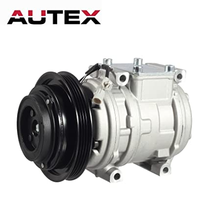 AUTEX AC Compressor & A/C Clutch CO 10246C 67324 TEM254480 140015C  Replacement for Toyota Tacoma 1995 1996 1997 1998 1999 2000 2001 2002 2003  2004