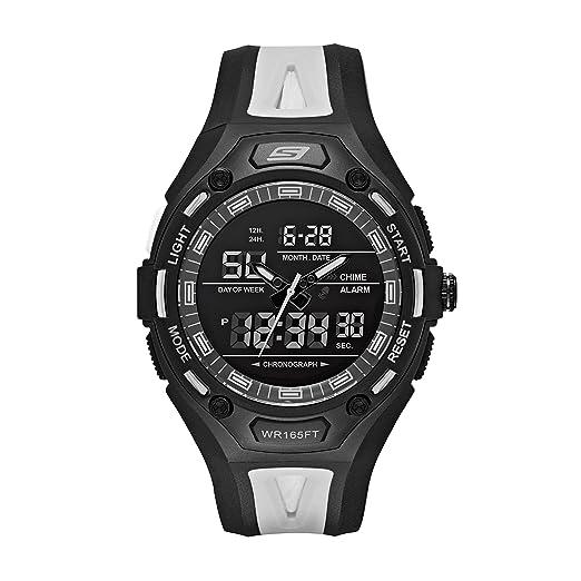 Skechers SR1069 - Reloj Casual de Cuarzo para Hombre, de plástico y Poliuretano, Color Negro: Amazon.es: Relojes