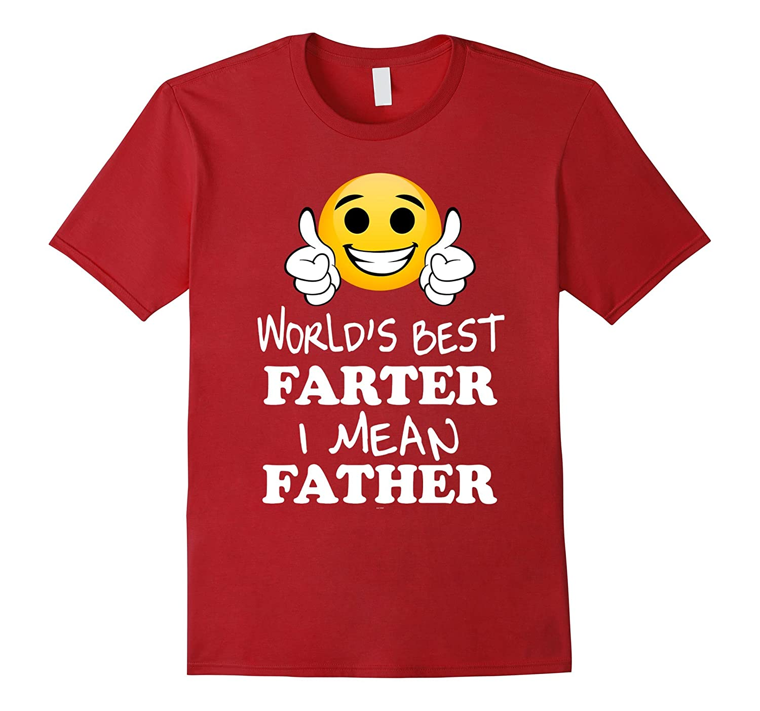 Mens Emoji funny father day shirts from daughter best farter tee-Vaci