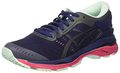 a83949a8a97 ASICS Women s s Gel-Kayano 24 Lite-Show Running Shoes Indigo Blue Black