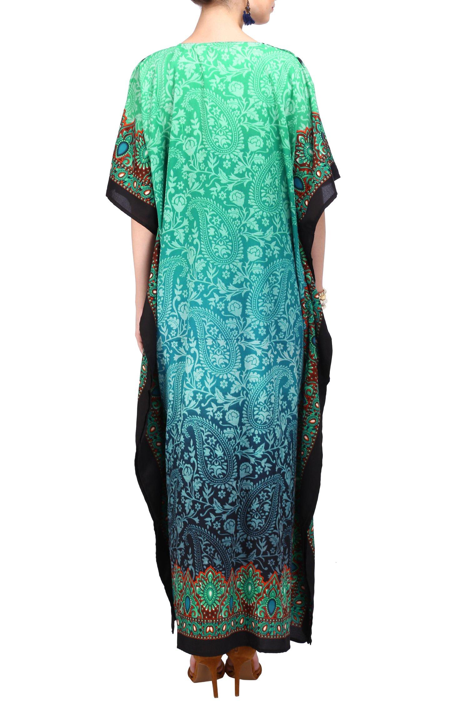 Miss Lavish London Women Kaftan Tunic Kimono Free Size Long Maxi Party Dress Loungewear Holidays Nightwear Beach Everyday Cover up Dresses by Miss Lavish London (Image #3)