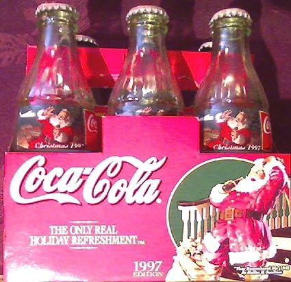 Coca Cola Christmas Bottle.Amazon Com Coca Cola Christmas Bottles 1997 Edition 6