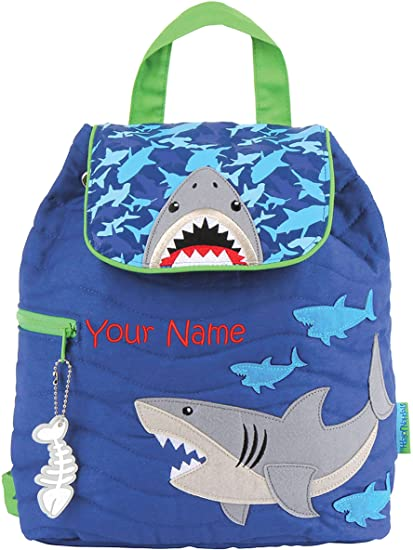 0fcf18b7e7aa Personalized Stephen Joseph Shark Quilted Backpack with Embroidered Name
