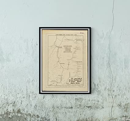 Amazon.com: 1918 Map Vermont|Long Trail The Long Trail of ...