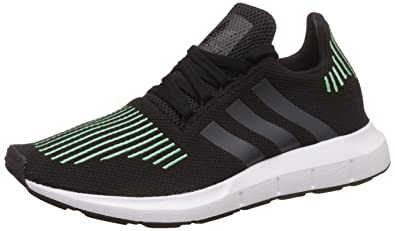 309b0ce4bd7 adidas Originals Mens Swift Run Running Training Shoes Trainers - Black  11.5US
