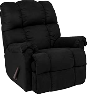 Flash Furniture Sierra Black Microfiber Rocker Recliner
