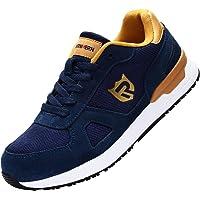 LARNMERN PRO Zapatos de Seguridad Hombre Mujer S1 SRC Anti-Deslizante Zapatos de Trabajo Punta de Acero Zapatillas de…
