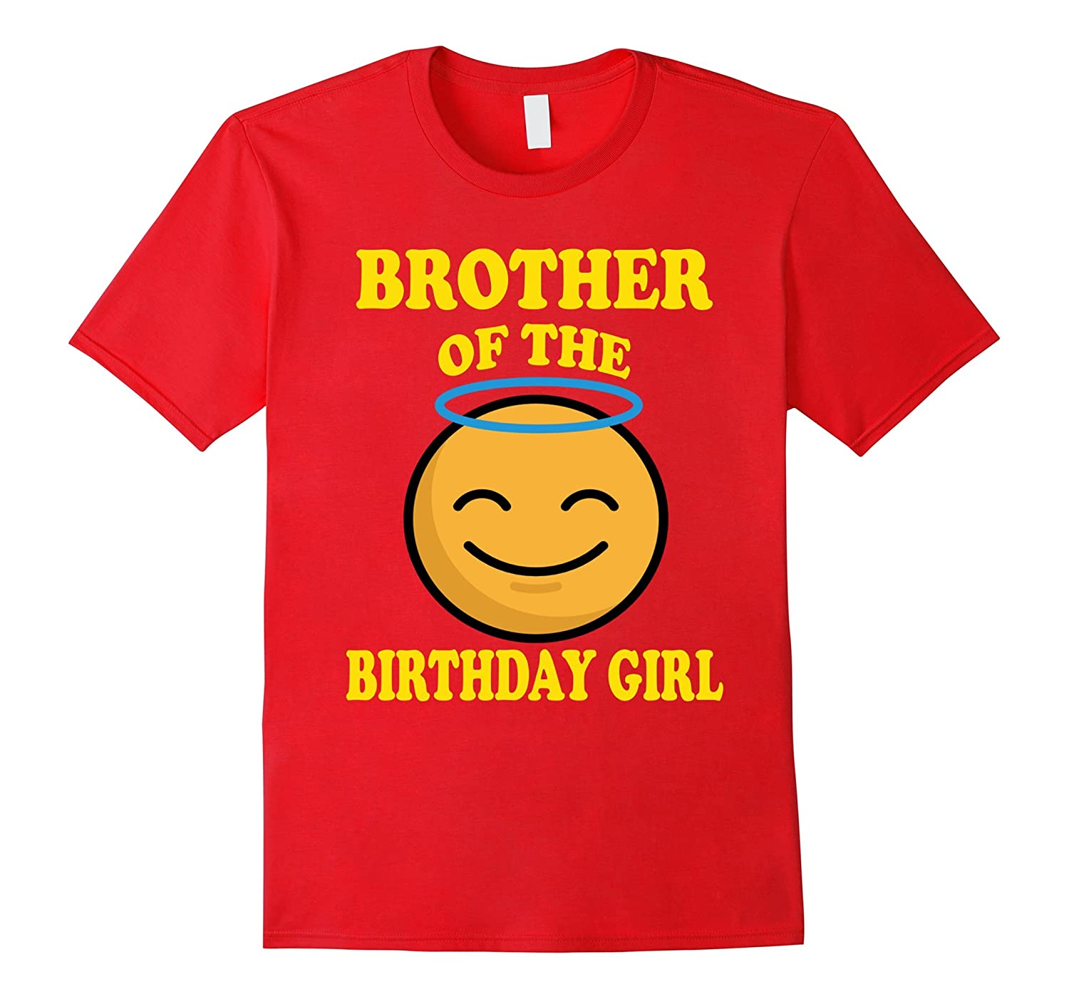 Brother Of The Birthday Girl Angel Emoji T-Shirt Gift-ANZ