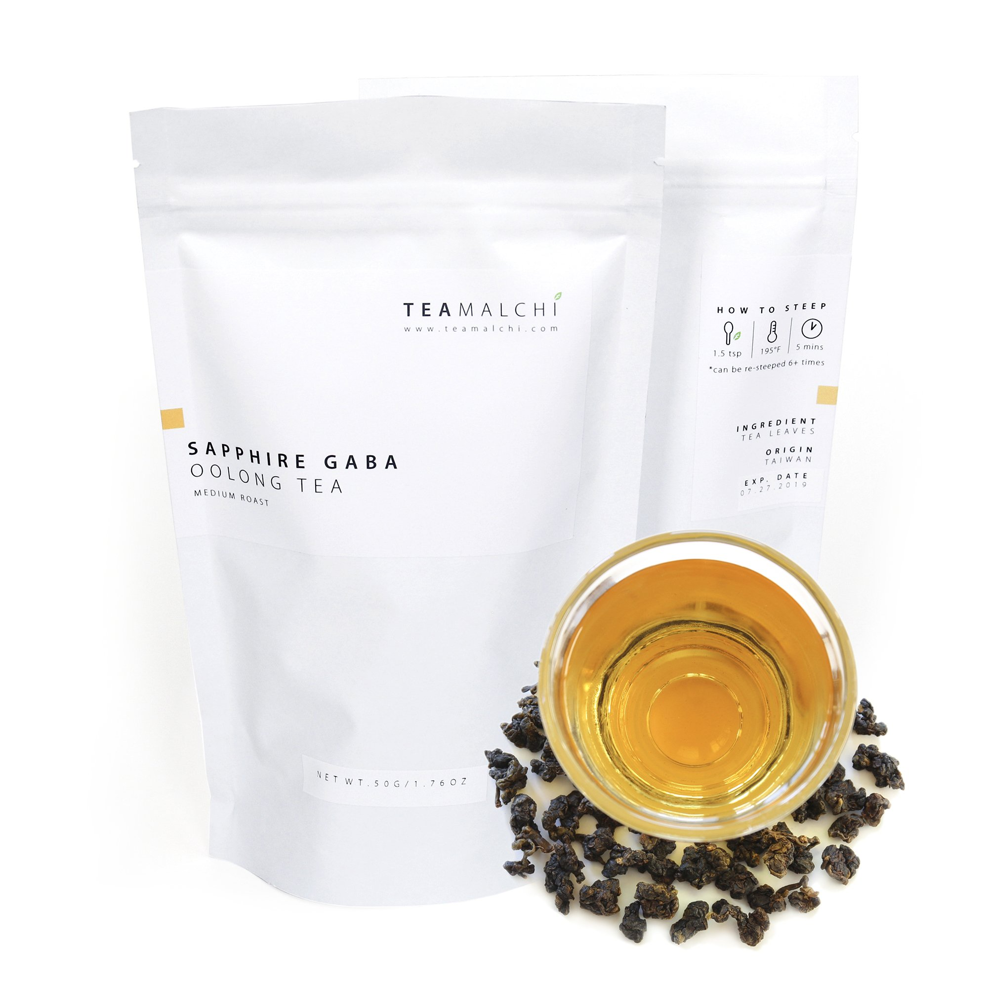 Natural Taiwan High Mountain Sapphire GABA Loose Leaf Oolong Tea, 50g/1.76 oz