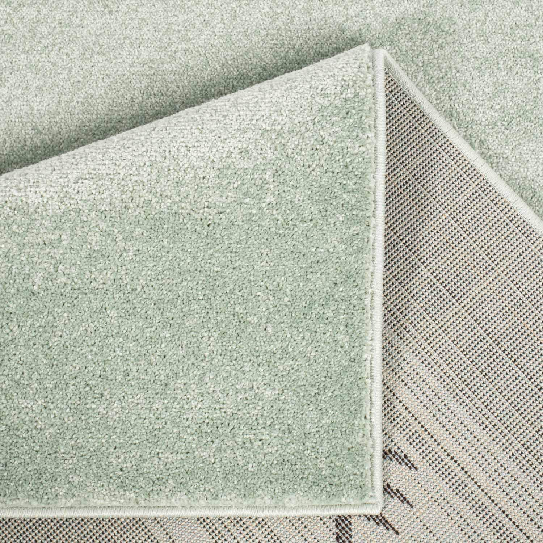 alfombra de pelo plano con oso panda blanco con lunares en 3 colores color: gris tama/ño en cm: 160 x 225 cm MyShop24h Alfombra infantil de pelo corto alfombra de juego para habitaci/ón infantil