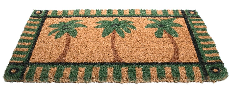 Amazon.com : Imports Décor Decorated Coir Doormat, Palm Tree, 18 ...