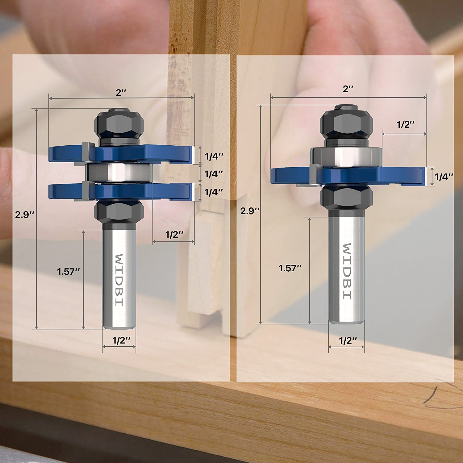 Premium Tongue And Groove Router Bits  Matched 2 Pcsset