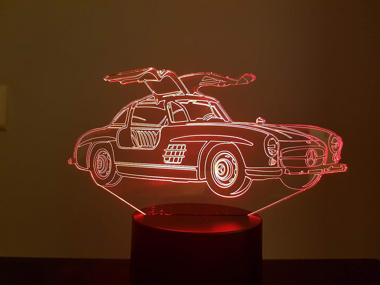 3D-LAMPE MERCEDES 300SL