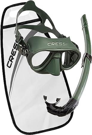 Cressi Calibro + Corsica Packs de Snorkel, Unisex Adulto, Verde