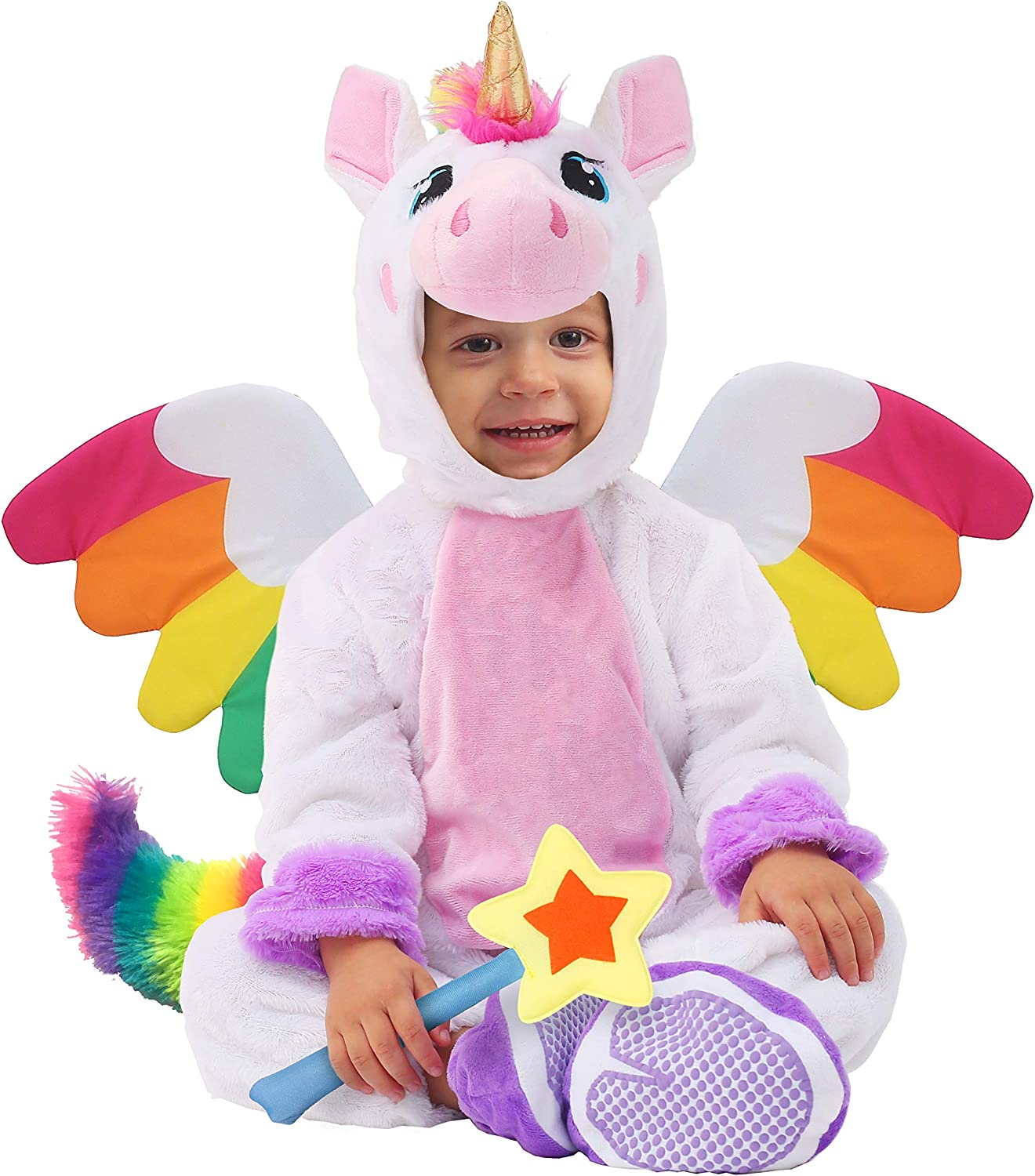Spooktacular Creations Baby Unicorn Costume Infant Deluxe Set for Kids Halloween Trick or Treating Dress Up