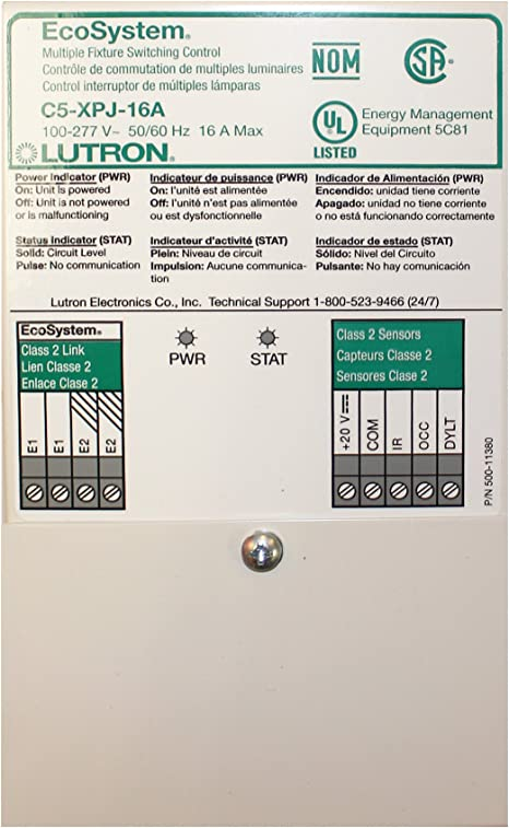 lutron eco system c5-bmj-16a switching power module