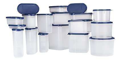 Buy Signoraware Easy Kitchen Plastic Container Set 18 Pieces Blue