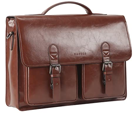 0a90b879997b Amazon.com: Banuce Men's Laptop Briefcase PU Leather Messenger ...