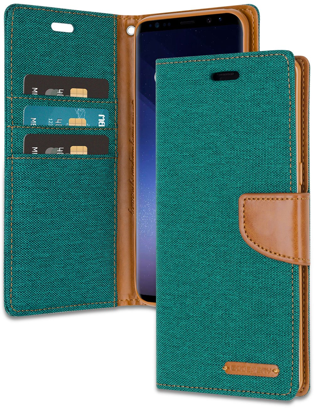Galaxy S9 Plus Wallet Case With Free 4 Gifts Shockproof Goospery Samsung Grand Prime Canvas Diary Green Vermagnetic Denim Material Card Holder Kickstand Flip