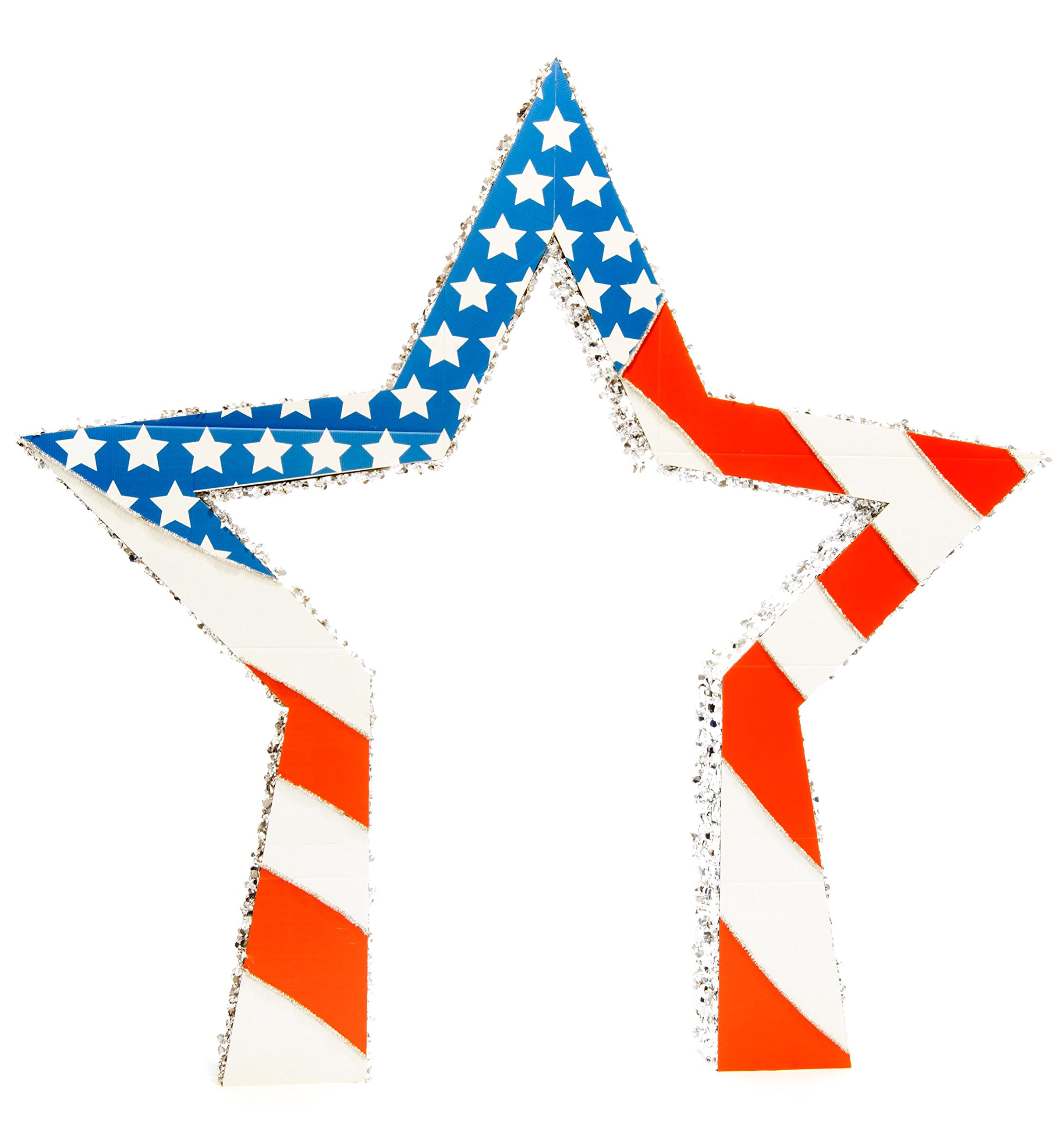 Patriotic Grand Star Arch, 9' 6'' high x 9' 7'' wide x 10'' deep