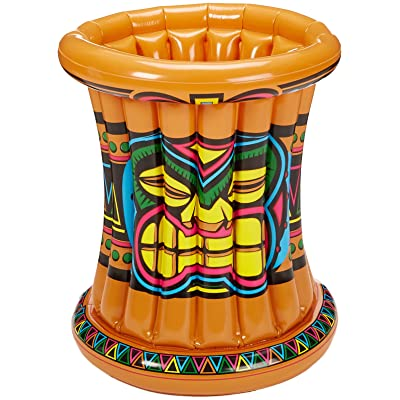 Beistle 50257 Inflatable Tiki Cooler, 22 by 25-Inch, Pkg of 1, Multicolored: Toys & Games