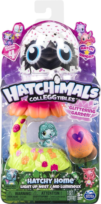 Hatchimal Colleggtibles Glittering Garden Light Up Nest Season 4