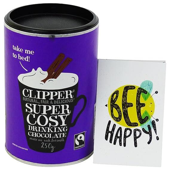 CLIPPER - Preparado para Bebida de Chocolate Caliente - con Cacao y Azúcar de Caña -
