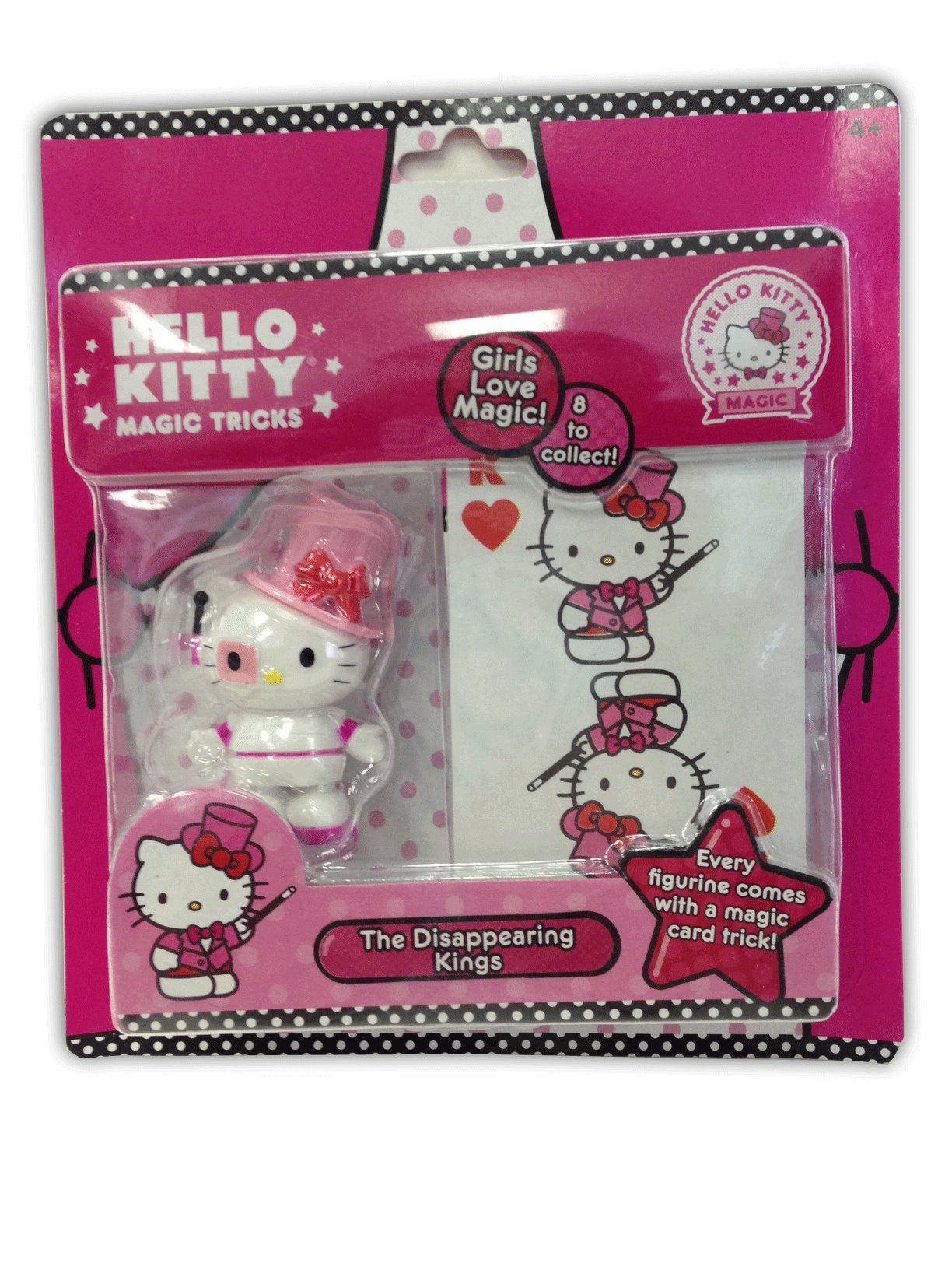 Hello Kitty Magic Disappearing Kings Magic Card Trick Super Cute Collectible Figurine by Hello Kitty (Image #2)