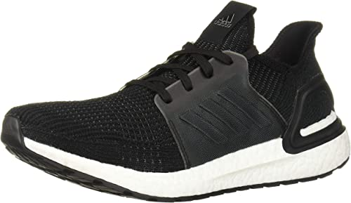 Adidas Ultraboost 19 Mens Black Gray Textile Athletic Lace Up Running Shoes