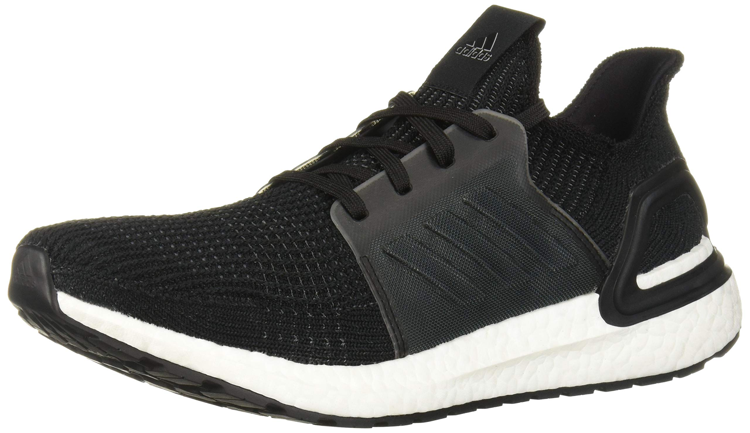 adidas Men's Ultraboost 19 Running Shoe, Black/White, 10 M US by adidas