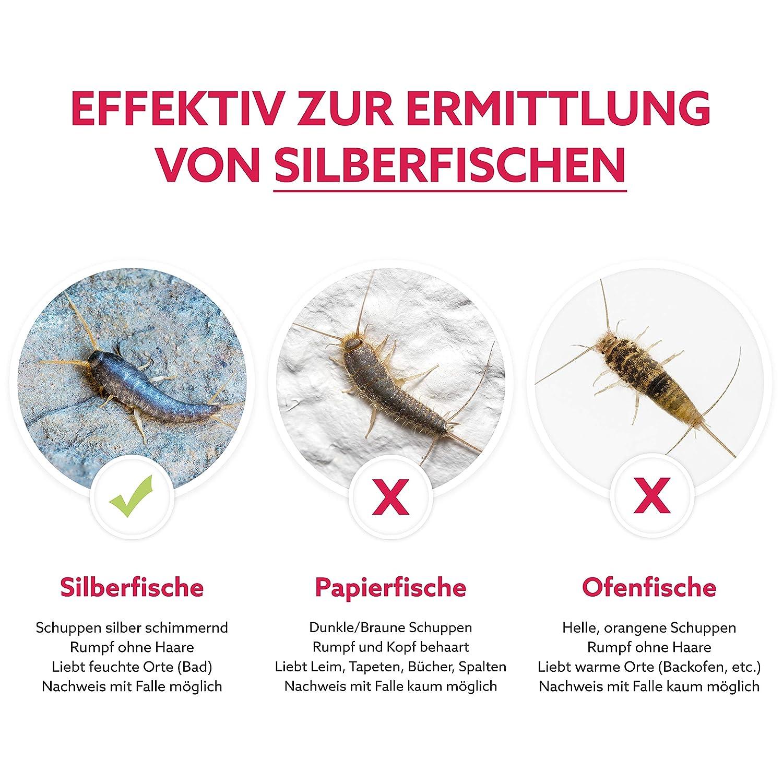 Gerobug Silberfischfalle = 3 Stück zum Silberfische nachweisen V 2.0 ...