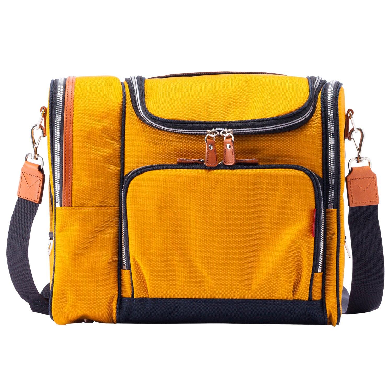 [豊岡鞄 ALBAPIE(アルバピエ)] ショルダーバッグ マルチアパートメントショルダー 軽量 大容量 日本製 メンズ 5601 B0787TKKL1 イエロー