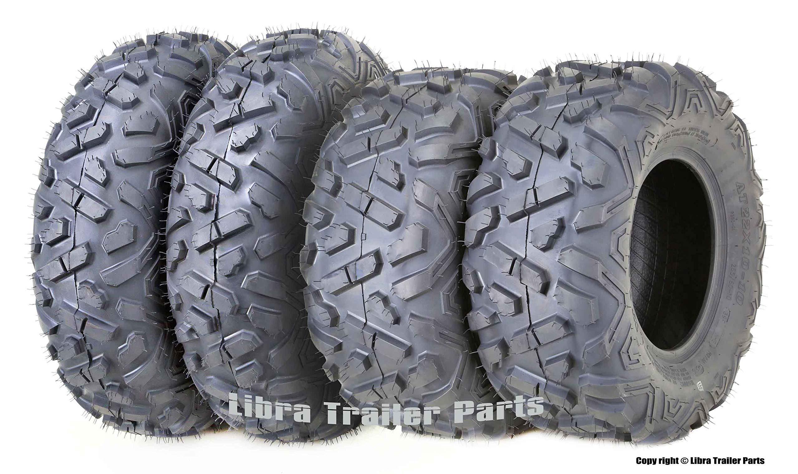 Set 4 WANDA ATV Tires 23x7-10 Front & 22x10-10 Rear Big Horn Style ... by WANDA