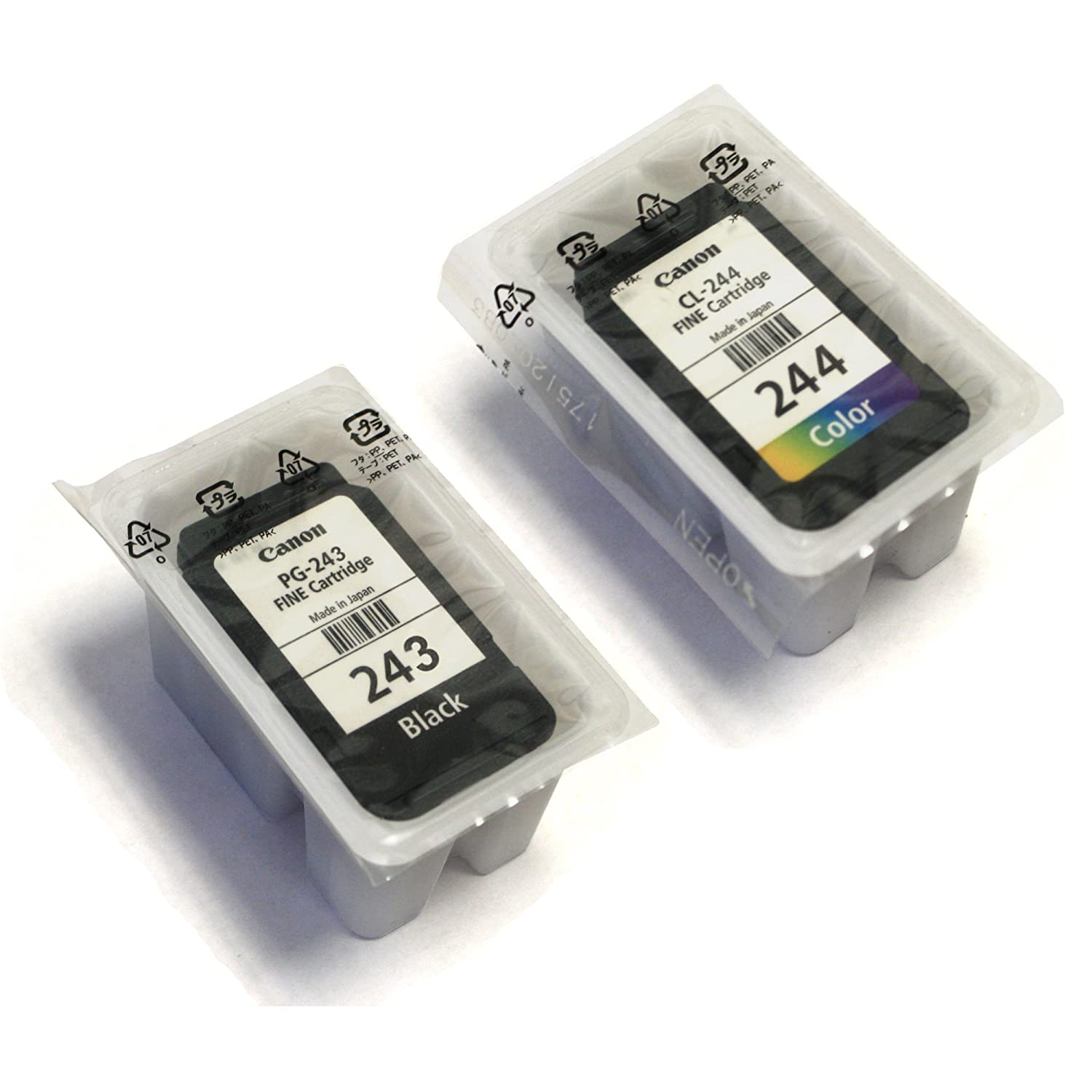 Amazon CANON PG 243 Black CL 244 Color Ink Cartridge Bulk Office Products