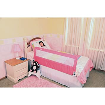 Regalo Extra Long Hideaway Bed Rail Pink