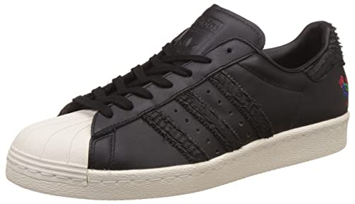 dab84fc162f3 adidas Originals Men s Superstar 80S CNY Cblack and Cwhite Leather Sneakers  - 11 UK India