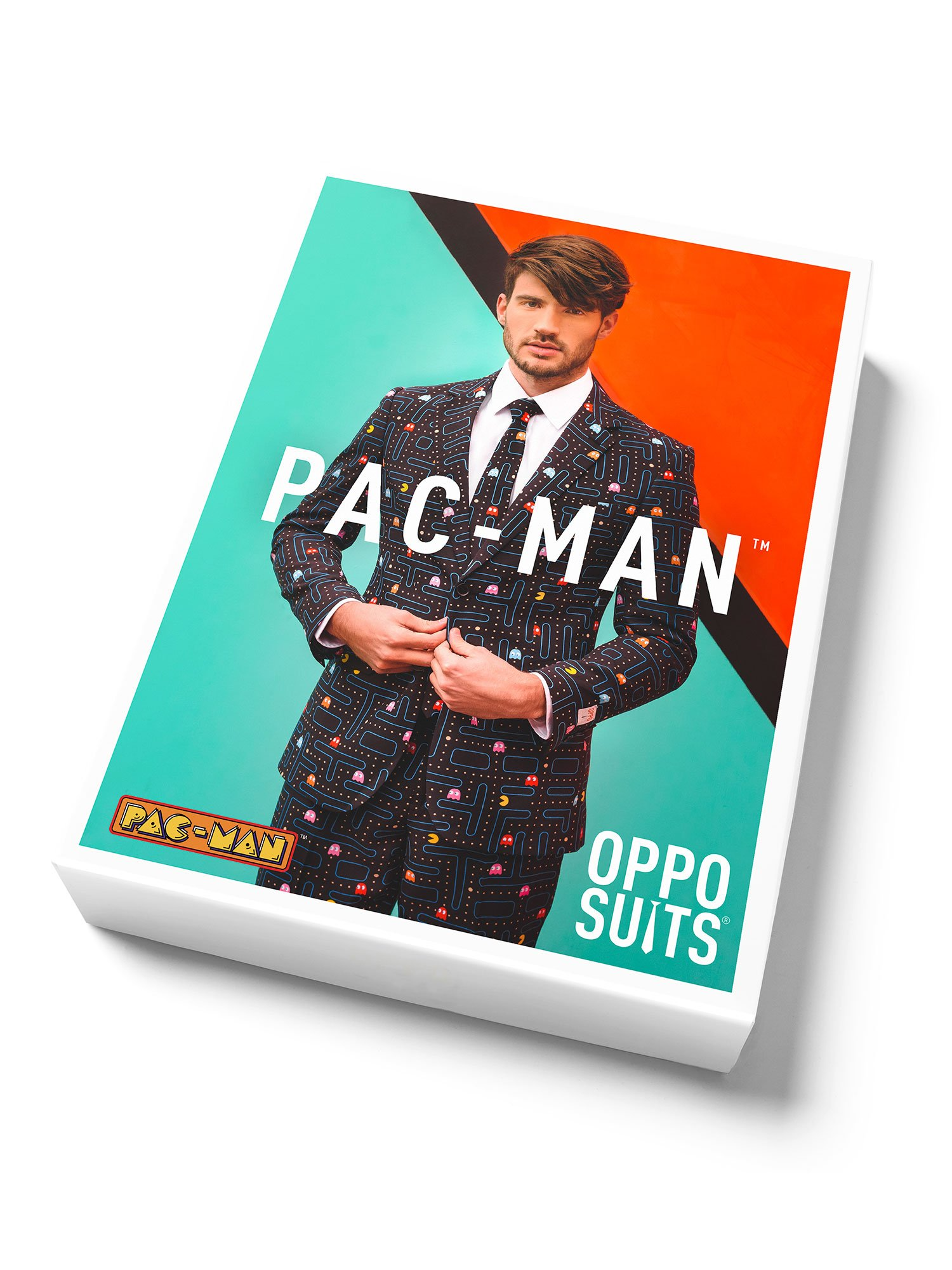 Opposuits Fancy Colored Suit For Men Now With Free Prom King and Prom Queen Sash,Pac-manTM,US44 by Opposuits (Image #6)
