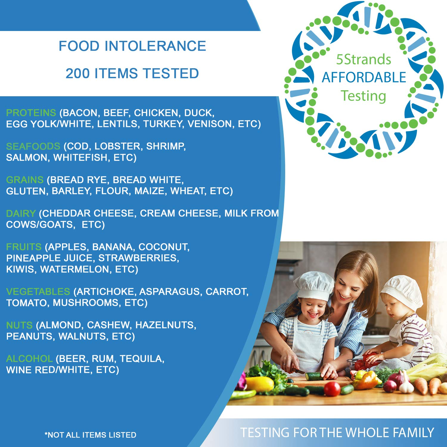 5Strands | Affordable Allergy & Intolerance Adult Test | at Home Environmental & Food Intolerance Kit | Tests for Over 350 Sensitivities & Allergens | Hair Analysis | Results in 1-2 Weeks | 1 Pack by 5Strands (Image #3)