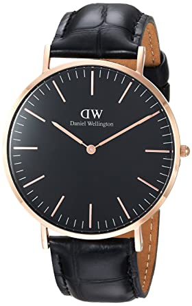 ae5bdce55d9e Image Unavailable. Image not available for. Color  Daniel Wellington  Classic Black Reading 40mm