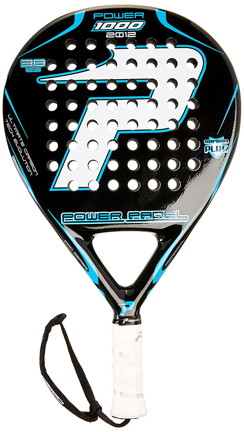 POWER PADEL 1000 2012 - Pala, Color Negro/Blanco, 38 mm: Amazon.es: Deportes y aire libre