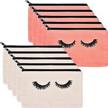 Amazon.com: 10 bolsas de maquillaje para pestañas con ...