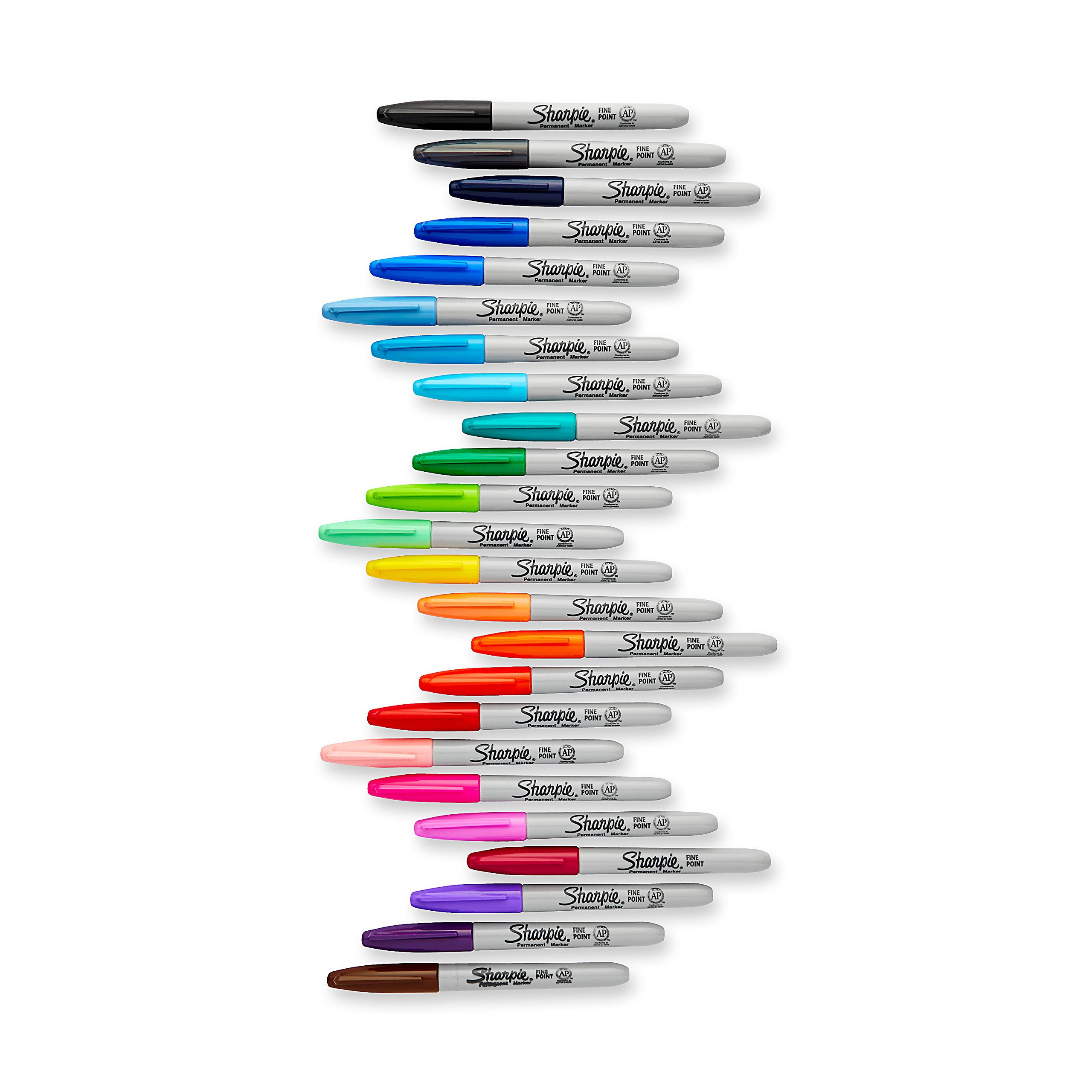 Sharpie Electro Pop Permanent Markers, Fine Point, Assorted Colors, 24 Count by Sharpie (Image #2)