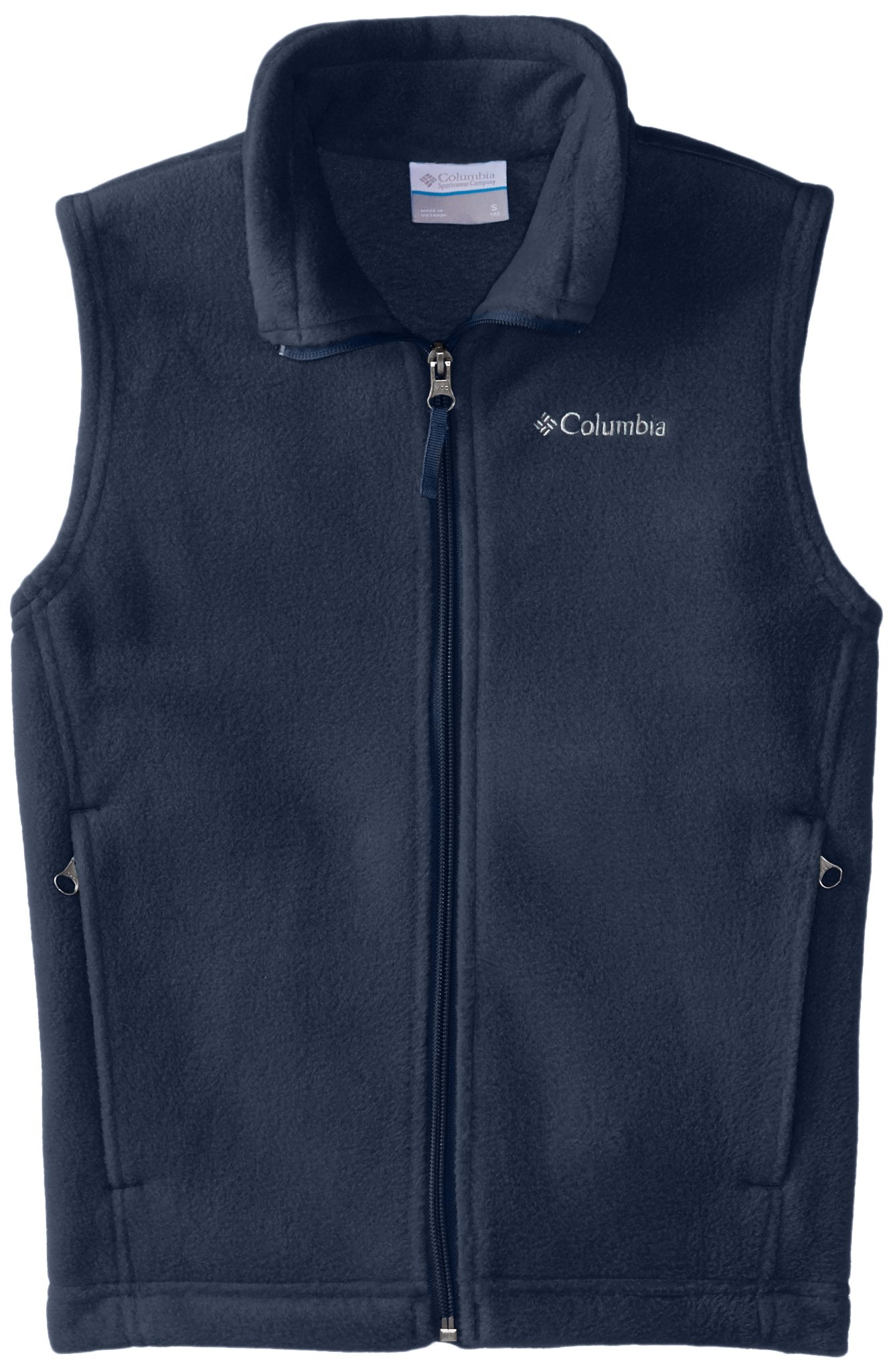 Columbia Big Boys' Steens Mountain Fleece Vest, Collegiate Navy, Large